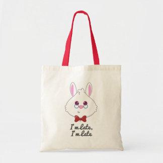 Alice in Wonderland | White Rabbit Emoji Tote Bag