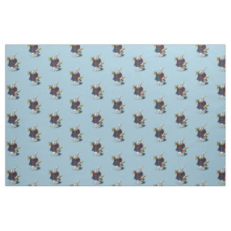 Alice in Wonderland White Rabbit Fairy Tale Fabric
