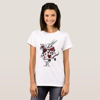 Alice in Wonderland White Rabbit Graphic Tee Shirt