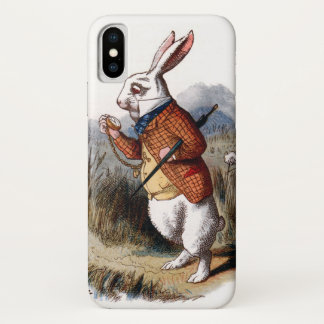 Alice in Wonderland White Rabbit iPhone X Case