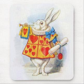 Alice in Wonderland White Rabbit Mousepad