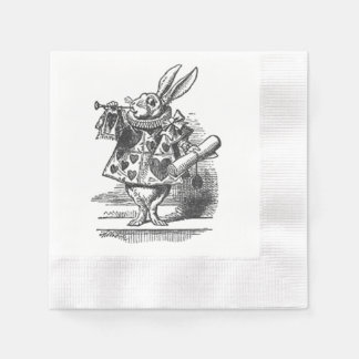 alice in wonderland white rabbit napkin disposable napkin