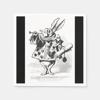 Alice in Wonderland White Rabbit Paper Napkins