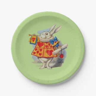 Alice in Wonderland White Rabbit Paper Plates