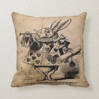 Alice in wonderland,white rabbit Pillow