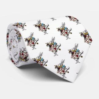 Alice in Wonderland White Rabbit Tie