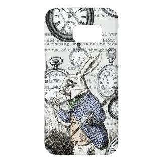 Alice in Wonderland White Rabbit Time Samsung Galaxy S7 Case