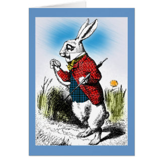 Alice in Wonderland White Rabbit Watch Card