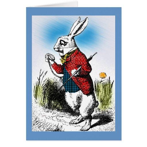 Alice in Wonderland White Rabbit Watch Card