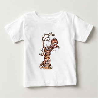 Alice in Wonderland with Cheshire Cat Drawing Baby T-Shirt