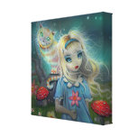 Alice in Wonderland Wrapped Canvas Print
