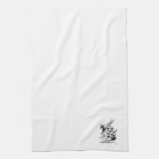 Alice in Wonderlands White Rabbit Kitchen Towel
