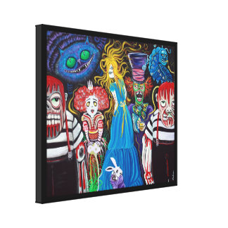Alice in Zombieland Canvas Print