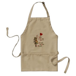 Alice,Mad Hatter &Rabbit Vintage Collage Quote Standard Apron