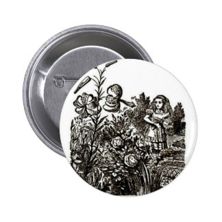 Alice meets flowers 2 inch round button