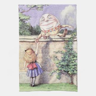 Alice Meets Humpty Dumpty Kitchen Towel
