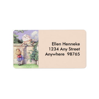 Alice Meets Humpty Dumpty Label