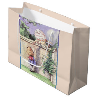 Alice Meets Humpty Dumpty Large Gift Bag