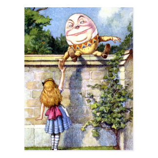 ALICE MEETS HUMPTY DUMPTY POSTCARD
