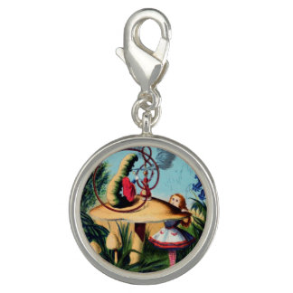 Alice Meets the Caterpillar Charm
