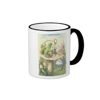 Alice Meets the Caterpillar Ringer Mug