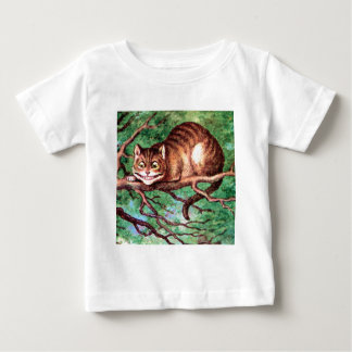Alice Meets The Cheshire Cat in Wonderland Baby T-Shirt