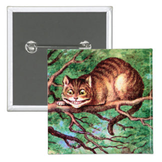 Alice Meets The Cheshire Cat in Wonderland Pins