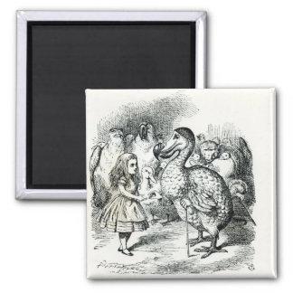Alice meets the Dodo Fridge Magnet
