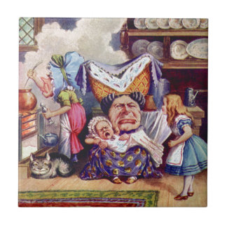 Alice Meets the Duchess and the Pic Baby Ceramic Tiles