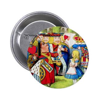 Alice Meets the Queen of Hearts in Wonderland Pin