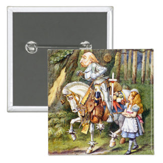 Alice Meets the White Knight in Wonderland Pin