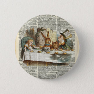 Alice Morning Tea time 2 Inch Round Button