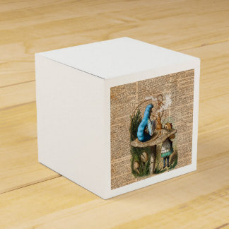Alice,Mushroom and Jin,Vintage Dictionary Art Favor Box