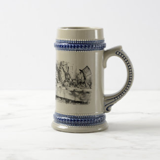Alice of the country of wonder beer stein
