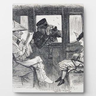 Alice on the Train Plaque