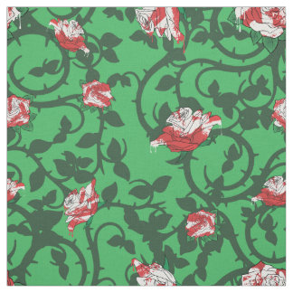 Alice painted roses fabric