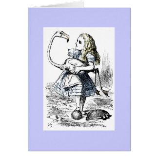 Alice Playing Queen's Croquet Card