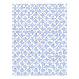 Alice Quatrefoil bleu dans un jardin anglais de Carte Postale
