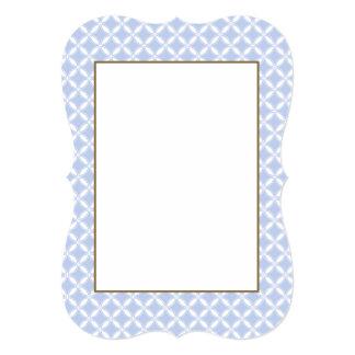 Alice Quatrefoil bleu dans un jardin anglais de Carton D'invitation 12,7 Cm X 17,78 Cm