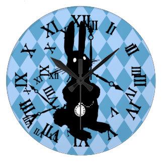 Alice Rabbit Late Large Clock
