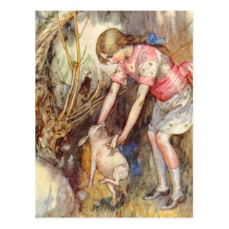 Alice Releases What She Realizes is a Pig Baby Postcard