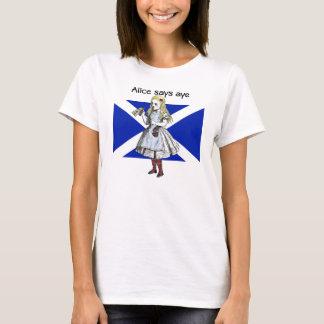 Alice Says Aye Scottish Independence T-Shirt