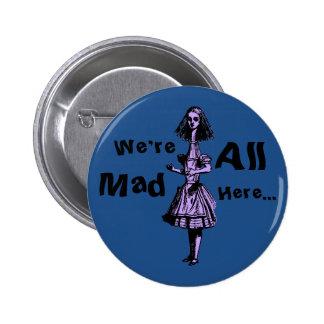 Alice Stretched in Wonderland 2 Inch Round Button