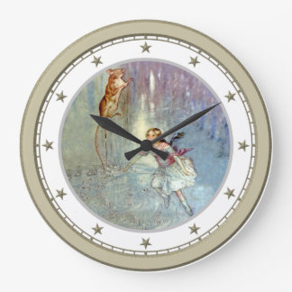 Alice Swimming in the Pool of Tears in Wonderland Wallclock