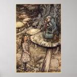 Alice & the Caterpillar by Arthur Rackham Poster