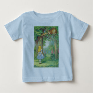Alice & the Cheshire Cat Color Baby T-Shirt