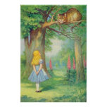 Alice & the Cheshire Cat Full Colour Poster