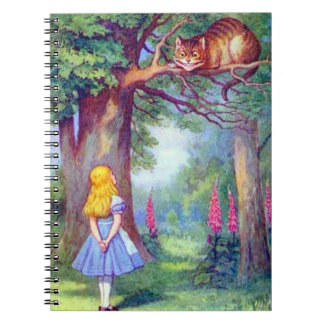 Alice & the Cheshire Cat in Full Color Notebook