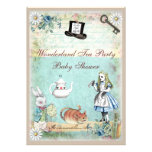 Alice & the Cheshire Cat Wonderland Baby Shower Personalized Announcements