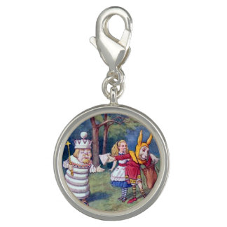 Alice & the Chess King Photo Charm